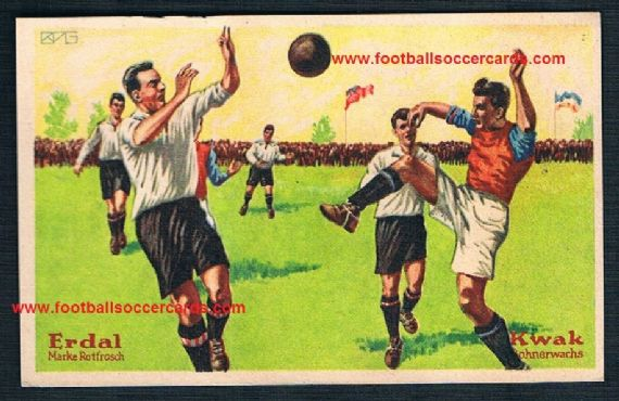 1927 Erdal Kwak BURNLEY v Nuremberg German trade card
